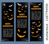 halloween banners leaflets... | Shutterstock .eps vector #1187794930
