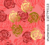 abstract roses pink and gold... | Shutterstock .eps vector #1187795113