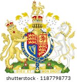 royal coat of arms of the... | Shutterstock .eps vector #1187798773