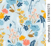 floral abstract seamless... | Shutterstock .eps vector #1187800273