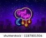 good night neon sign vector.... | Shutterstock .eps vector #1187801506