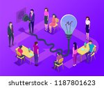 people work in a team and... | Shutterstock .eps vector #1187801623