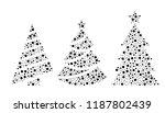 simple vector set of three... | Shutterstock .eps vector #1187802439