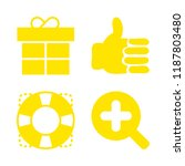 4 giving icons with plus... | Shutterstock .eps vector #1187803480
