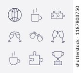 outline 9 match icon set.... | Shutterstock .eps vector #1187803750