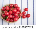 many cherry tomatoes packed in... | Shutterstock . vector #1187807629