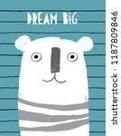 big white bear. cute abstract... | Shutterstock .eps vector #1187809846