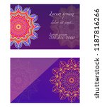 relax cards with mandala formed ... | Shutterstock .eps vector #1187816266