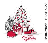 merry christmas and happy new... | Shutterstock .eps vector #1187816629