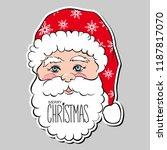 vector funny happy santa claus... | Shutterstock .eps vector #1187817070