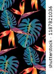 tropical bright pattern with... | Shutterstock .eps vector #1187821036