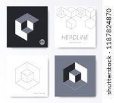 vector minimalist square card... | Shutterstock .eps vector #1187824870