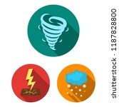 different weather flat icons in ... | Shutterstock .eps vector #1187828800