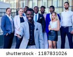 successful and handsome african ... | Shutterstock . vector #1187831026