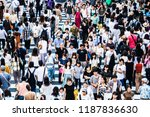osaka  japan    14 july 2018  ... | Shutterstock . vector #1187836630