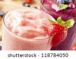 organic strawberry smoothie... | Shutterstock . vector #118784050
