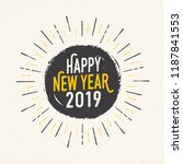 handmade style greeting card  ... | Shutterstock .eps vector #1187841553