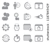 time management icons. gray... | Shutterstock .eps vector #1187845429