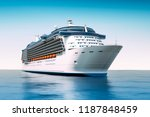 3d render of cruise ship on... | Shutterstock . vector #1187848459