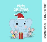 merry christmas greeting card... | Shutterstock .eps vector #1187849509