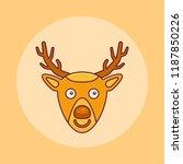 christmas deer flat line icon.... | Shutterstock .eps vector #1187850226