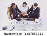 concept of cooperation.the...   Shutterstock . vector #1187851813
