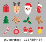 christmas and new year symbols... | Shutterstock .eps vector #1187854489