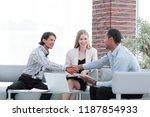 international business partners ...   Shutterstock . vector #1187854933