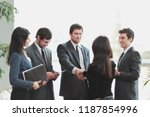 close up.business team and...   Shutterstock . vector #1187854996
