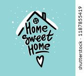 """home sweet home"" cute hand... 