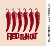 red   hot. vector hand drawn... | Shutterstock .eps vector #1187858809