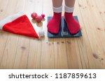 female feet standing on... | Shutterstock . vector #1187859613