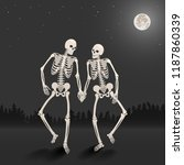 two lovers of skeleton on the... | Shutterstock .eps vector #1187860339