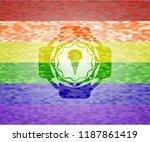 ice cream icon inside lgbt...   Shutterstock .eps vector #1187861419