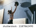 workout. sport woman training... | Shutterstock . vector #1187862490