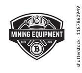cryptocurrency mining emblem... | Shutterstock .eps vector #1187862949