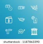 money transaction icon set and...