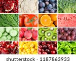 background of fresh fruits and... | Shutterstock . vector #1187863933