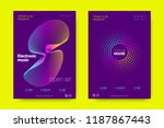music wave poster. party flyer... | Shutterstock .eps vector #1187867443