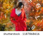 woman and numerology | Shutterstock . vector #1187868616