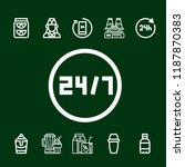 cocktail icon set. hours juice... | Shutterstock .eps vector #1187870383