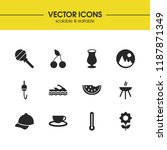 sunny icons set with...