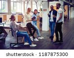 happy to work together. group... | Shutterstock . vector #1187875300