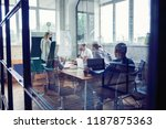 working hard to win....   Shutterstock . vector #1187875363