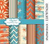 set of vector abstract flower... | Shutterstock .eps vector #1187876260