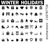 Winter Holiday Icons   Vector
