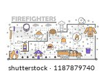 firefighters poster banner... | Shutterstock .eps vector #1187879740