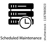 a scheduled maintenance with... | Shutterstock .eps vector #1187880823