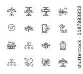 collection of 16 grey outline...