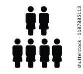 hr icon vector female group of... | Shutterstock .eps vector #1187885113